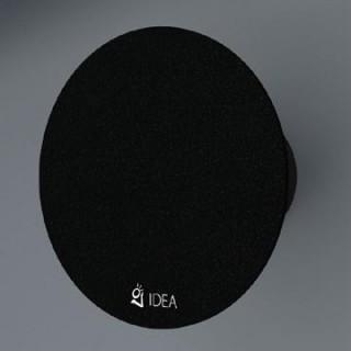 Вентилатор за баня с черно стъкло /кръгъл/