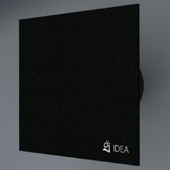 Вентилатор за баня с черно стъкло