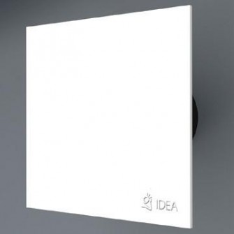 Вентилатор за баня с бяло стъкло
