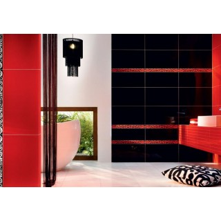 Баня Colour Black&Red 32.7x59.3