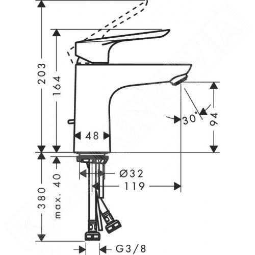 Hansgrohe Logis E 100 за мивка