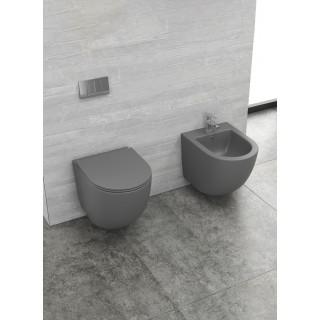 Конзолна тоалетна Milos Rimless - сив мат