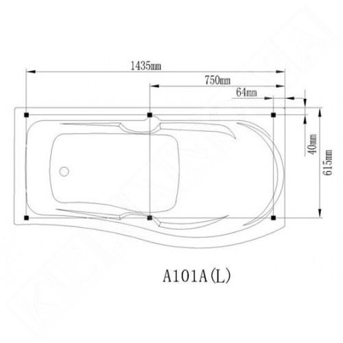 A-101A 150х70/85 см.