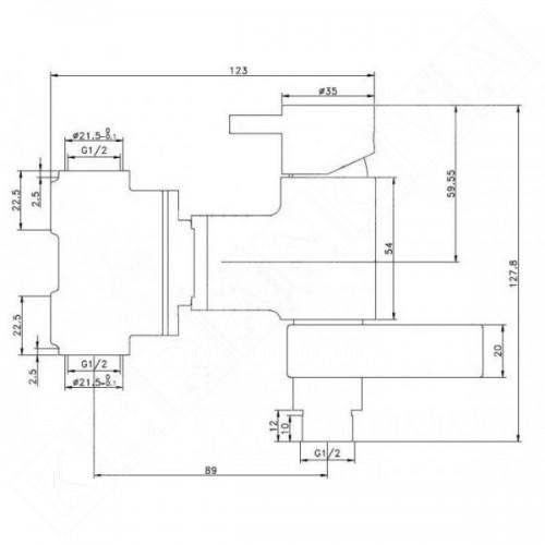 MIRO KSUSO-001 смесител за вграждане с хигиенен душ