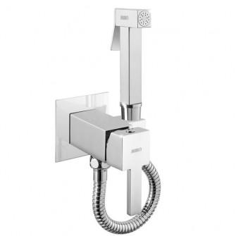 SUM11+SOLR8 квадратен смесител за вграждане с хигиенен душ