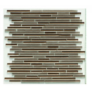 Glass Mix Strip Mosaic BROWN 29,8х30,5 см.