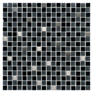 Glass & Inox Mix Mosaic BLACK 30,5х30,5 см.