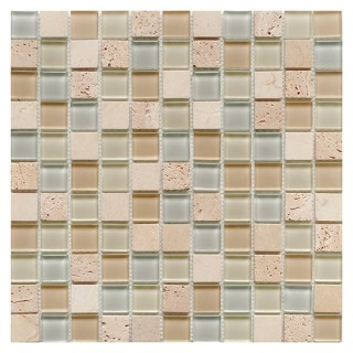 Glass & Stone Mix Mosaic CREAM 30х30 см.