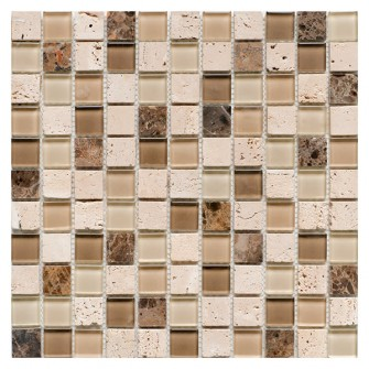 Glass & Stone Mix Mosaic BEIGE 30х30 см.