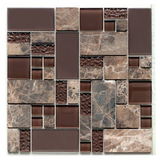 Glass & Stone Mix Mosaic Brown 29,8х29,8 см.