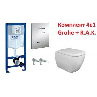 Промо пакет RAK Metropolitan soft close и Grohe с хром бутон