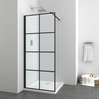 Стъклена преграда Elite Black Series 100 см.