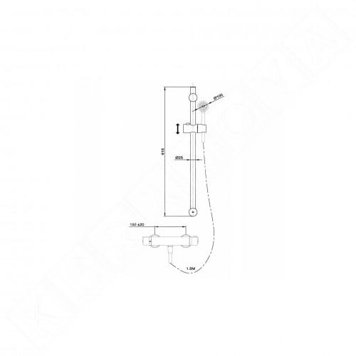 Teka Nexos душ комплект с термостатичен смесител