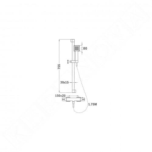 Teka Soler душ комплект с термостатичен смесител