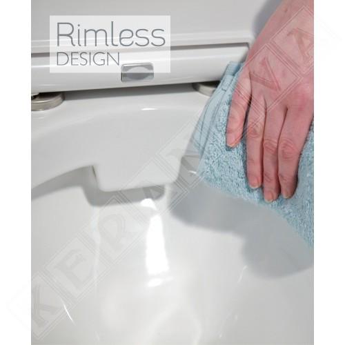 Rimless конзолна тоалетна Resort - R.A.K. Ceramics